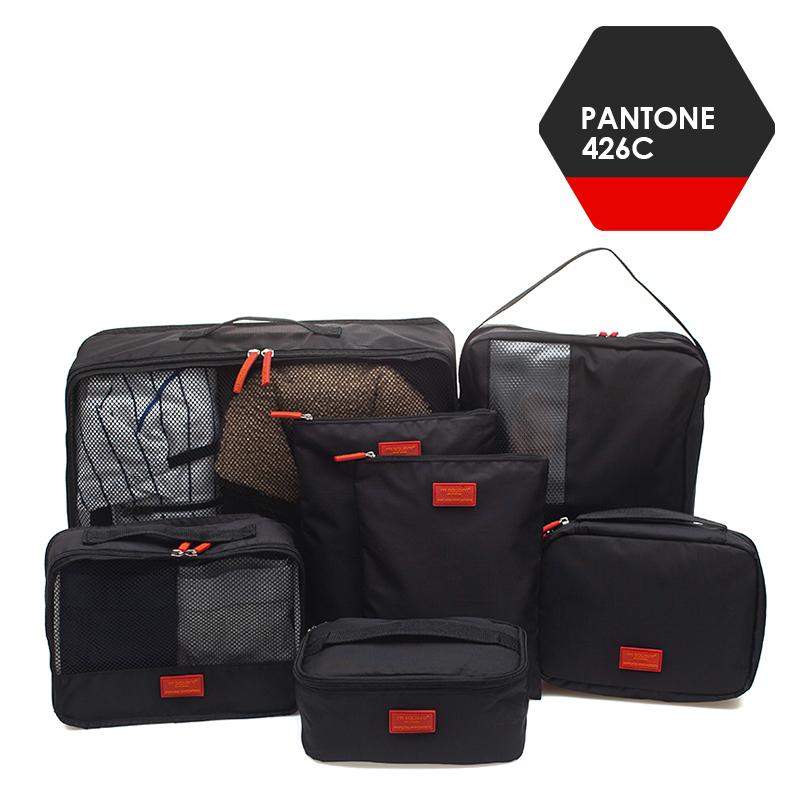 M SQUARE Fashion design professional business travel kit bag with 7pcs per set