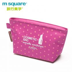 M SQUARE travel organizer Cosmetic bag (wave point pink)