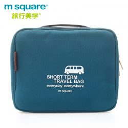 M SQUARE travel makeup toiletry wash bag (Blue)