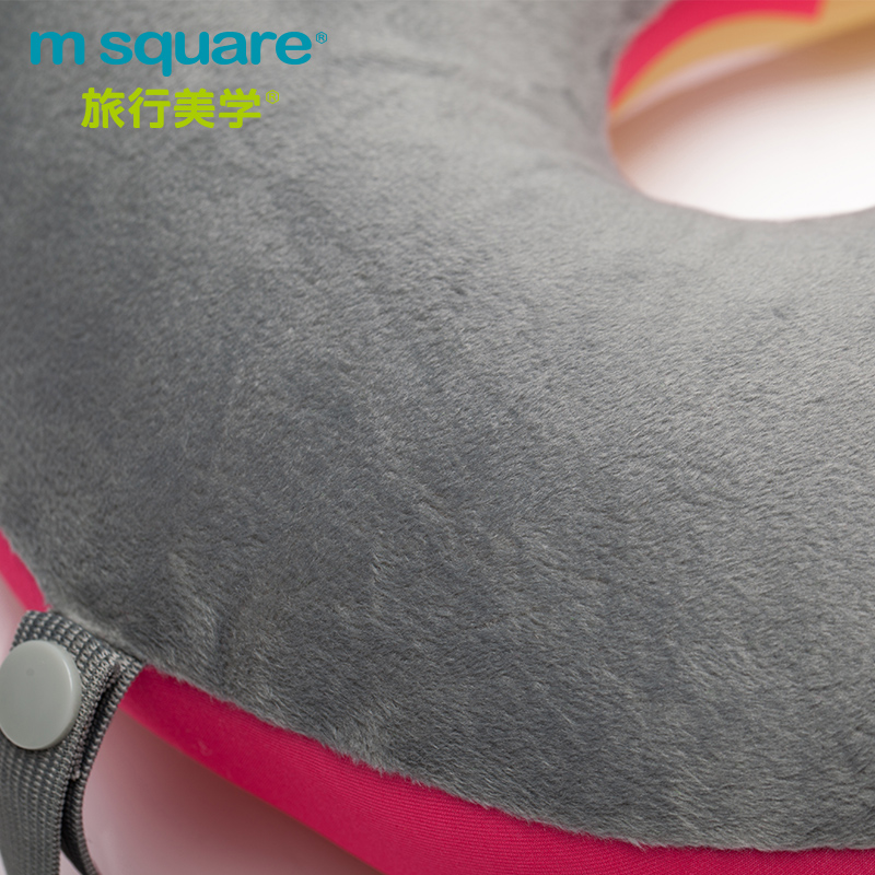 M SQUARE soft headrest neck pillows kids (Pink/Yellow)