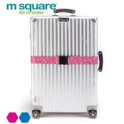 M SQUARE fashion travel color luggage belt (Pink)