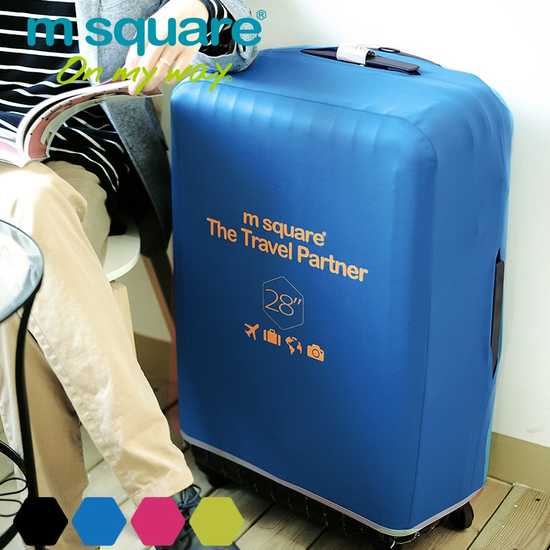 """M SQUARE Light 4 color 28"""" protective suitcase cover"""