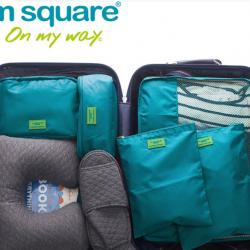 M SQUARE Fashion design professional business travel kit bag with 5pcs per set