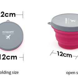 M SQUARE eco-Friendly  silicone collapsible foldable mideum size bowls