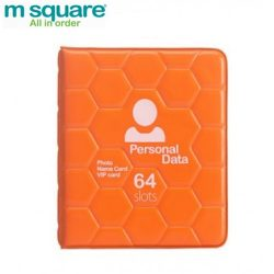 M SQUARE colorful ID business photo credit card personal card holder (Orange)